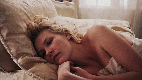actress, beauty, bed, blonde, kirsten dunst
