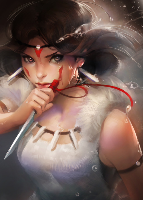 adorable, amazing, anime, art, beautiful, cute, draw, eyes, fashion, female, girl, hair, illustration, image, kawaii, mononoke, perfect, pretty, princess, red, style