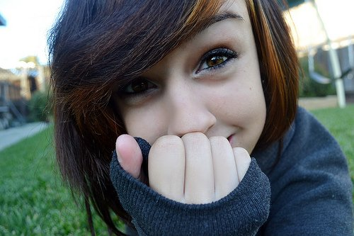 adorable, brown hair, cute girl, hair, pretty, scene