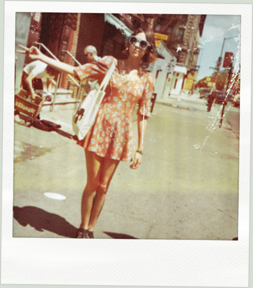 alexa chung, celebrity, model, polaroid, summer, vintage
