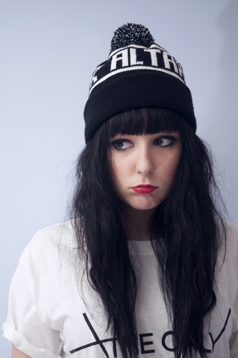 alternative, black hair, cap, cute, eyes
