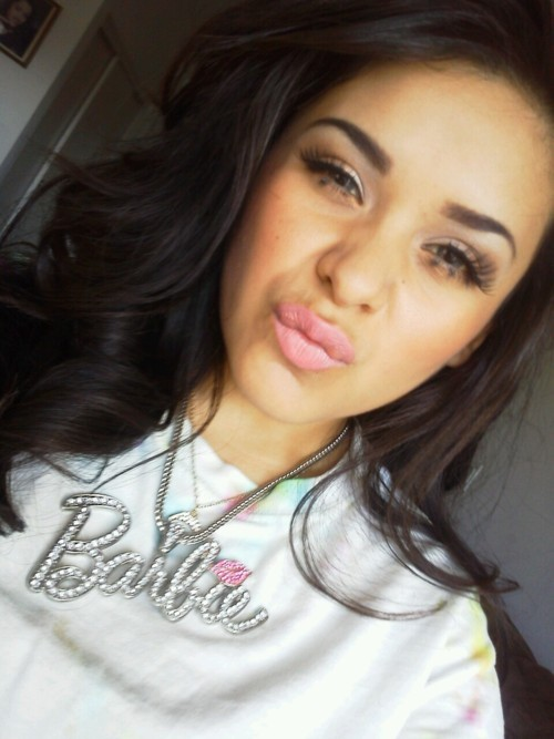 alva hazel, barbie, brunette, dope, eyes, girl, gorgeous, hair, kiss, lashes, lips, makeup, necklace, pretty, site model