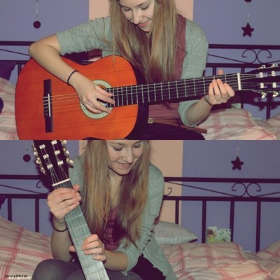 amazing, art, black, cool, cute, dress, fashion, girl, guitar, hair, happy, kiss, love, lovely, musik, my house is green, photography, pink, pretty, room, sit, smile, song, star, style, text, vintage, white, woman