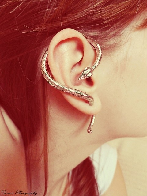 amazing, cool, ear, earring, snake