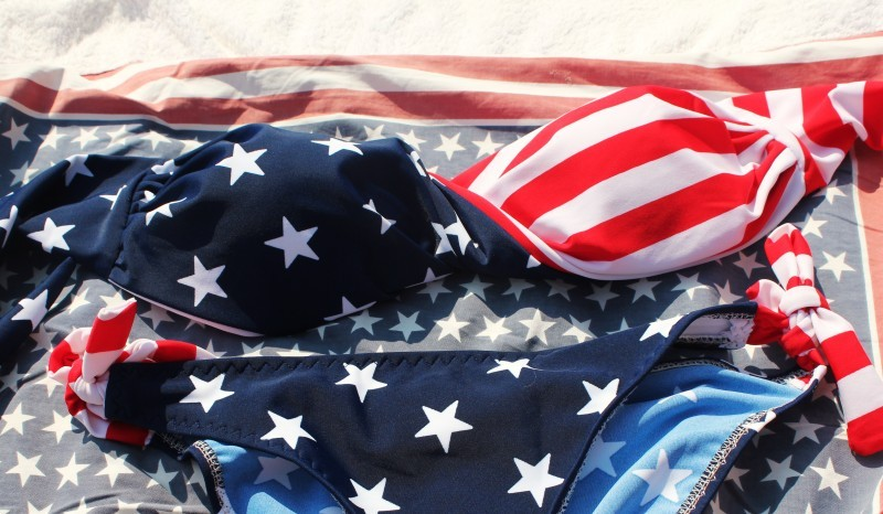 america, bikini, cool, fashion, flag