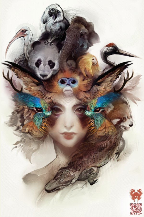 andrew jones , animals, graphics, illustrations