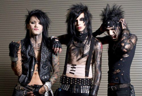 andy biersack, andy six, andy sixx, ashley purdy, black veil brides