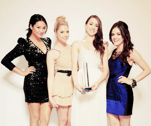 aria montgomery, ashley benson, emily fields, hanna marin, lucy hale