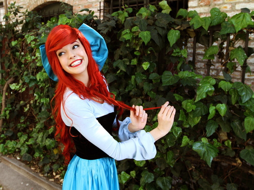 ariel, beautifull, character, cosplay, disney land