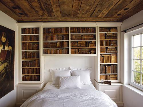 art, bed, bedroom, book, books