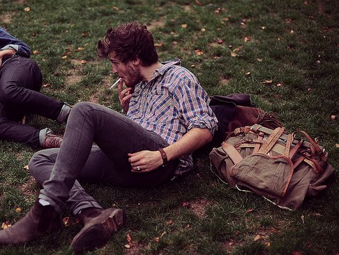 awesome, bag, beard, beautiful, boots, cool, smoking, pretty, shirt, model, smoke, perfect, hipster, indie, hunk, lovely, hair