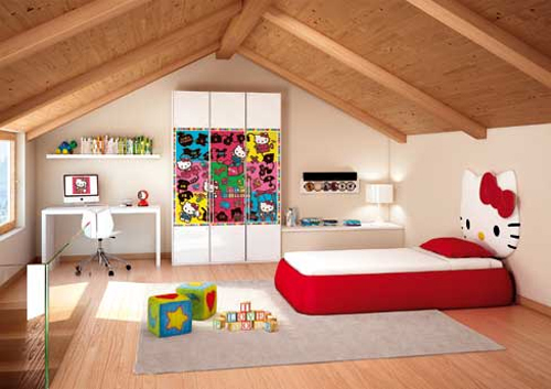 awesome, bedroom, cute, hello kitty, hellokitty