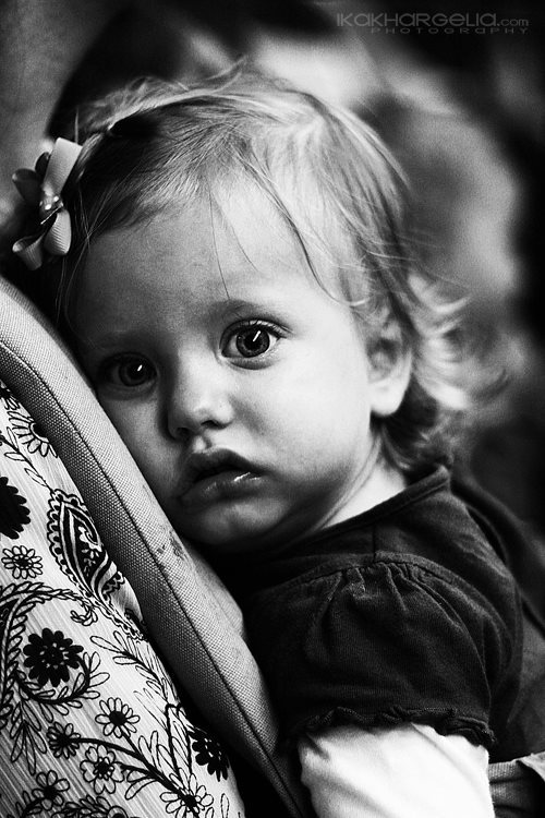 baby, black and white, cute, girl, little