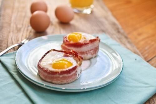 bacon, breakfast, egg, food