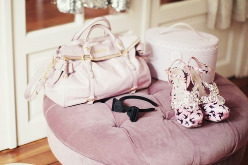 bag, cute, fashion, girl, lepillow, miu miu, photography, pink, purse, shoes, vintage, white