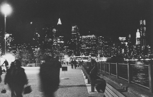 b&amp;w, black and white, city, city light, city lights