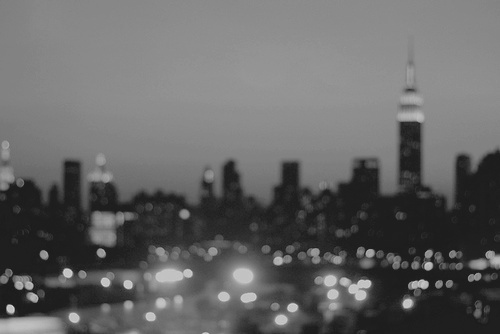 b&w, black and white, city, city lights, light