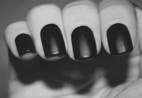 b&w, black, black and white, black nail, black nails, finger, fingers, hand