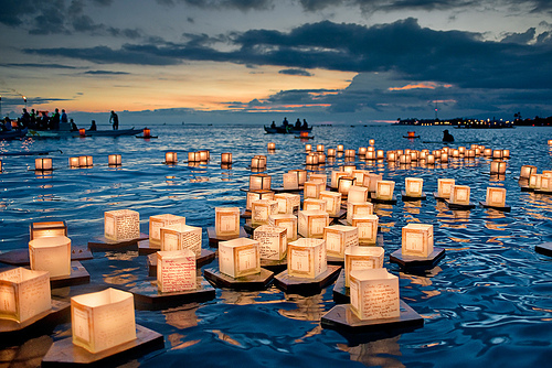 beach, beautiful, boats, cool, lanterns
