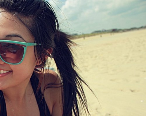 beach, black, emo, fun, girl