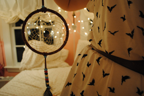 beads, bed, birds, cute dress, dream catcher