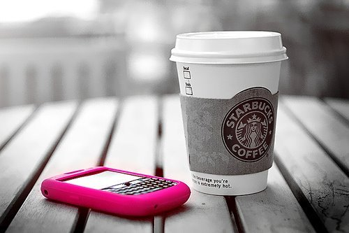 beautiful, blackberry, cute, fashion, nice, photo, photography, pink, starbucks, starbucks coffee, sweet, telephone