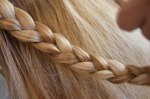 beautiful, blond, blonde, braid, color