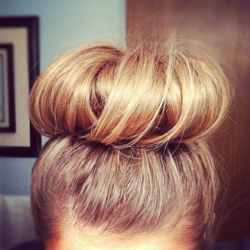 beautiful, blonde, bun, cute, fashion