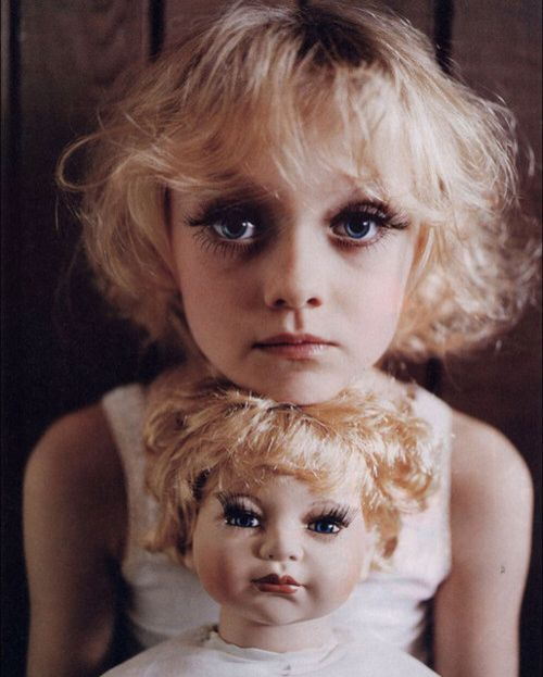 beautiful, blue eyes, cute, dakota, dakota fanning, doll, girl, hair, little girl, vintage