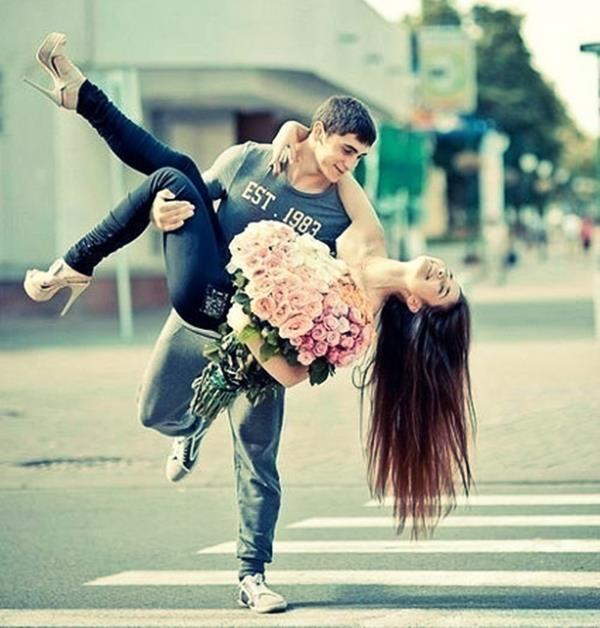 beautiful, couple, cute, flowers, funny