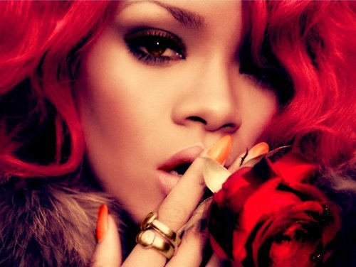 beautiful girl, red hair, rihanna, rose