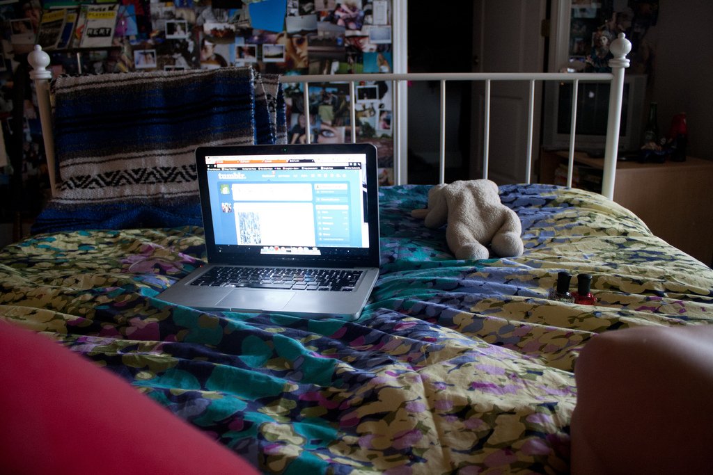 bed, bedroom, bedtime, blogging, chistmas lights
