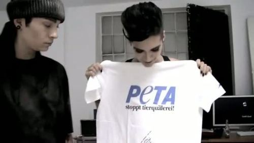 bill kaulitz, hot, kaulitz twins, peta, sexy