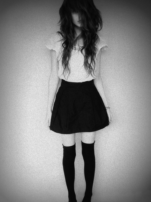 black and white, dress, fashion, girl, hair