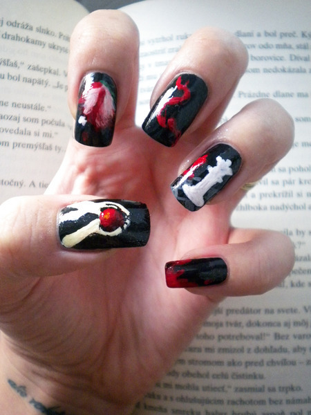black, book, nails, twilight