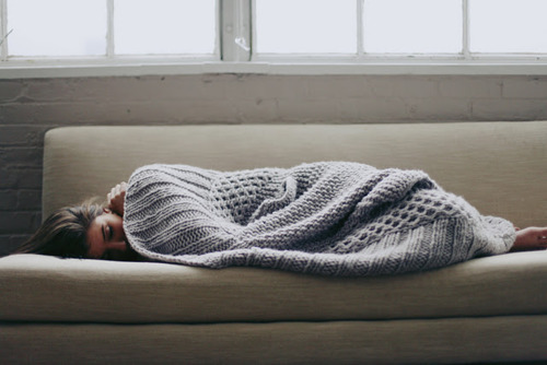 blanket, bored, cold, cosy, couch, cozy, cute, depressed, fashion, girl, knit, knitted, photo, photography, sad, sleep, sleeping, sweater, tired