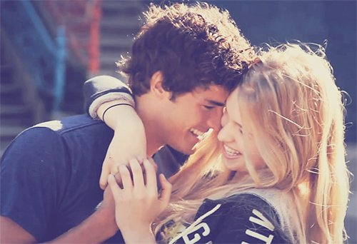 blonde, boy, couple, cuddle, cute, feel, girl, guy, happy, heart, hug, kiss, kissing, love, lucky, pair, smile, summer, sweet