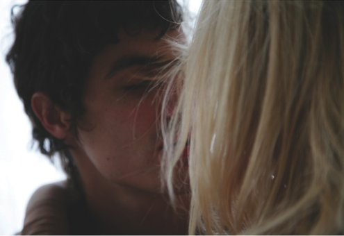 blonde, boy, cute, dark, girl, guy, hair, kiss, love, smile