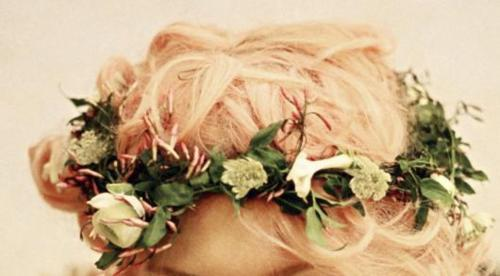 blonde, crown, fashion, flower, hair