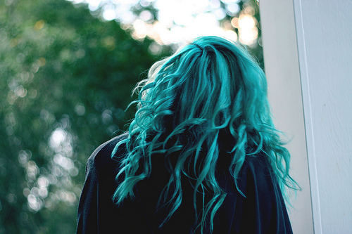 blue, girl, hair, nice, photgoraphy