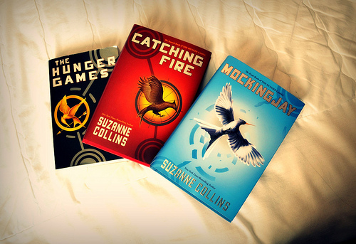 book, books, catching fire, hunger games, love