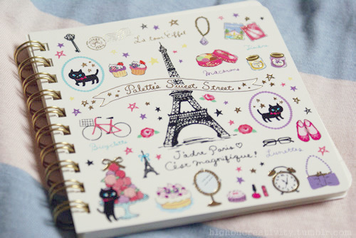 book, cats, cute, drawings, eiffeltower - image #362155 on ...