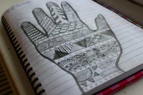 bored, detail, doodles, draw, drawing, free time, hand, notebook, paper, patterns, pencil