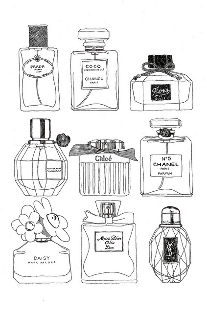 boy and girl, chic, coco chanel, daisy, draw, fashion, glam, parfum, perfumes, prada, vintage, vogue, ysl