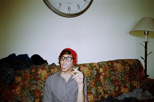 boy, cigarette, hipster, indie, vintage