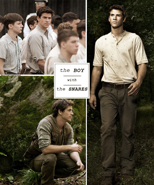 boy, gale, girl, hunger games, katniss