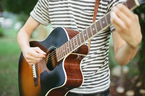 boy, guitar, hands, instrument, music