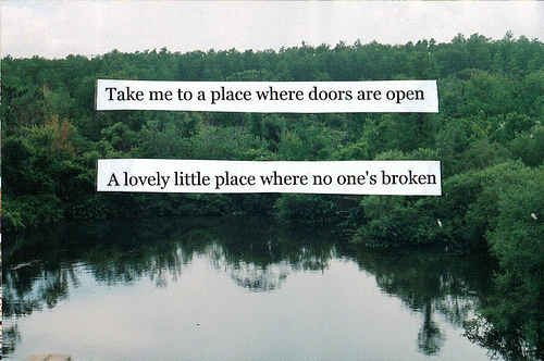 bring me to life, clouds, inspirational, lake, landscape, lovely, nature, open, outside, text, thousand foot krutch, water