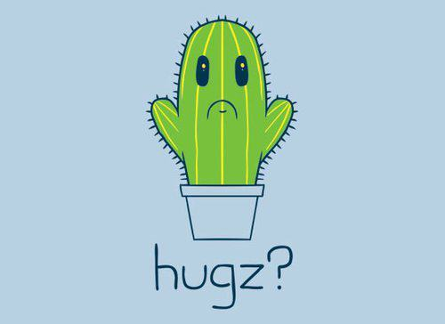 How you hug this cactus?