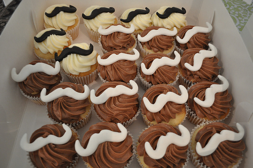 cake, chocolate, cupcake, food, mustache